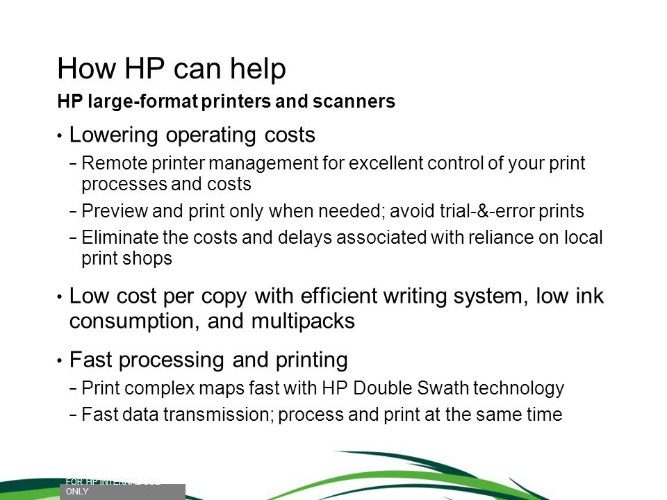 How HP can help Lowering operating costs