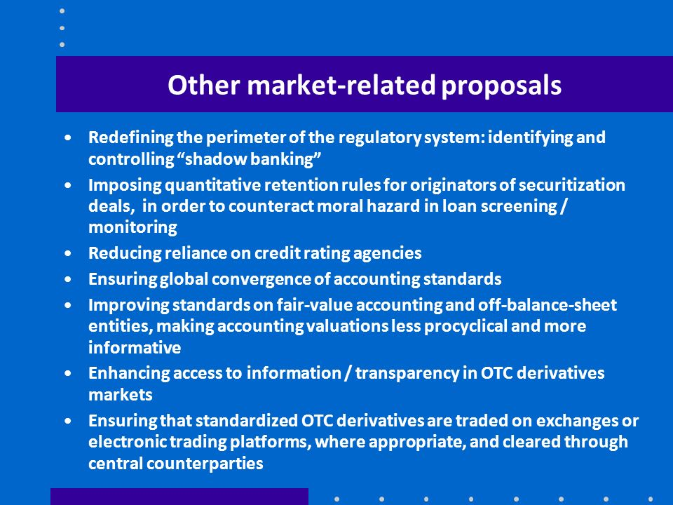 Other market-related proposals