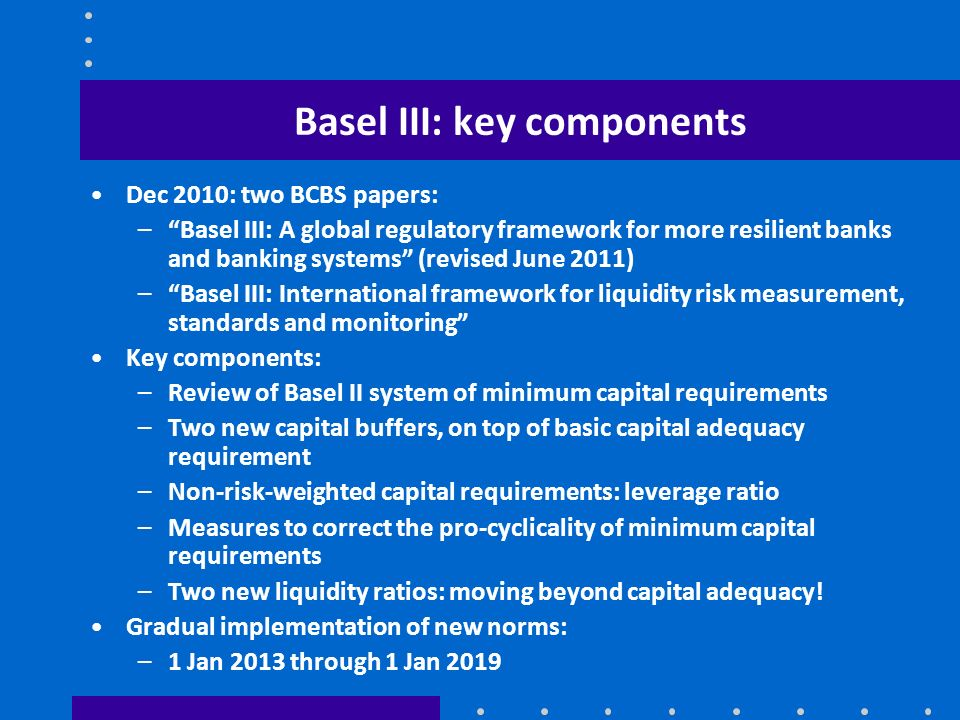 Basel III: key components