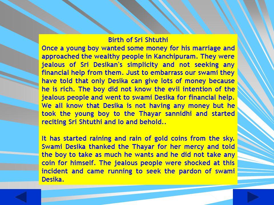 Birth of Sri Shtuthi