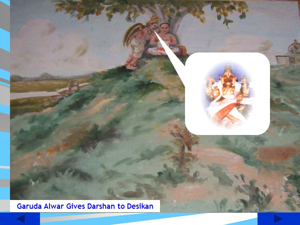 Garuda Alwar Gives Darshan to Desikan