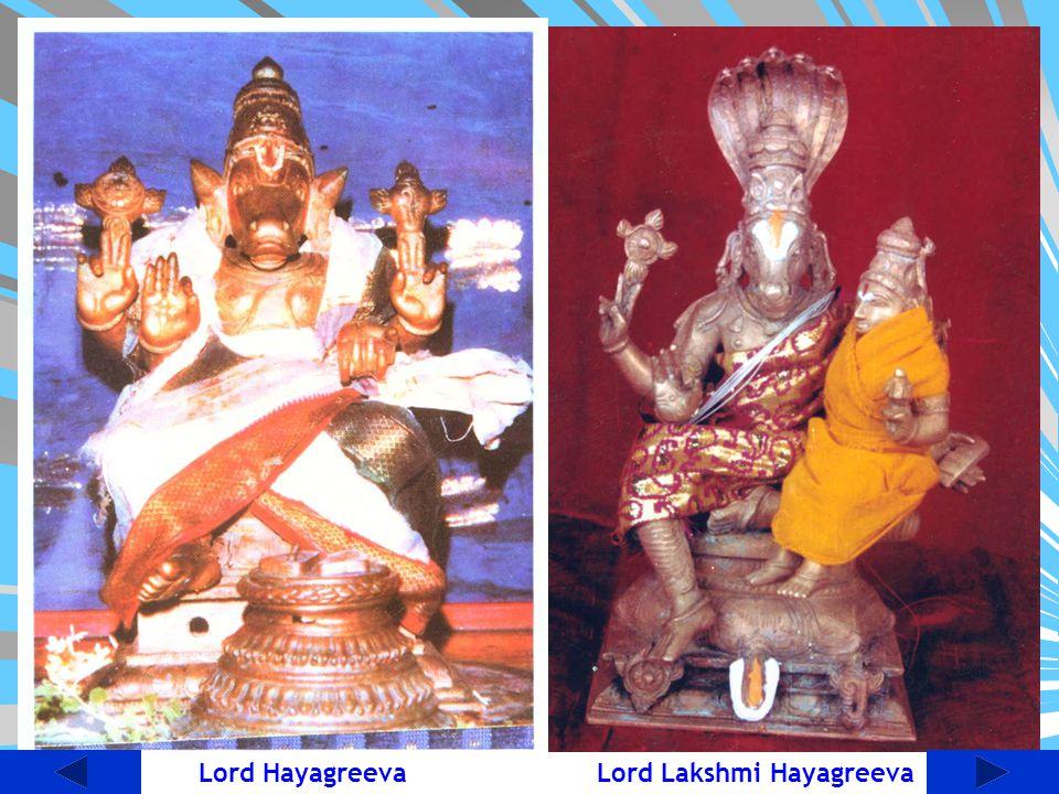 Lord Hayagreeva Lord Lakshmi Hayagreeva