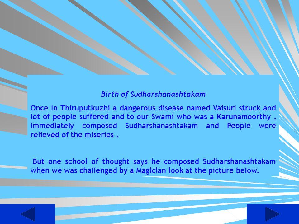 Birth of Sudharshanashtakam