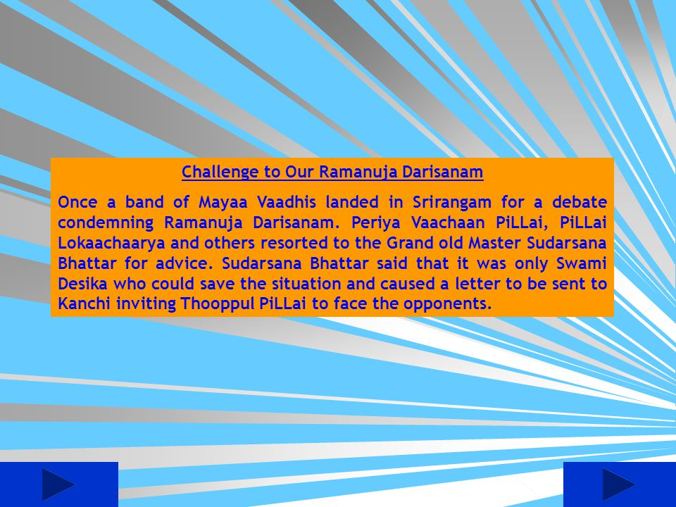 Challenge to Our Ramanuja Darisanam