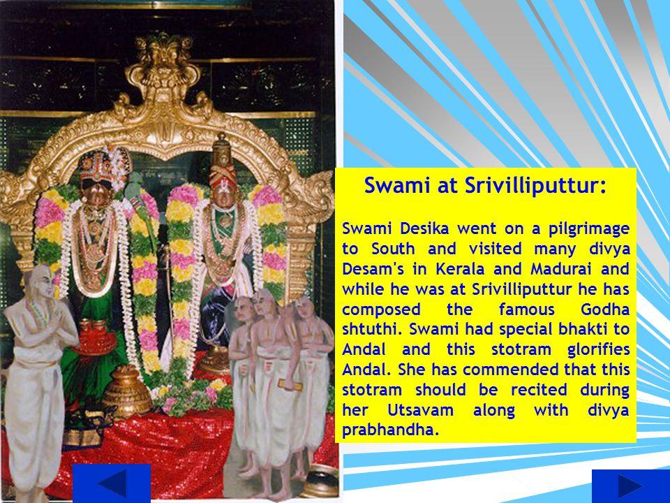 Swami at Srivilliputtur:
