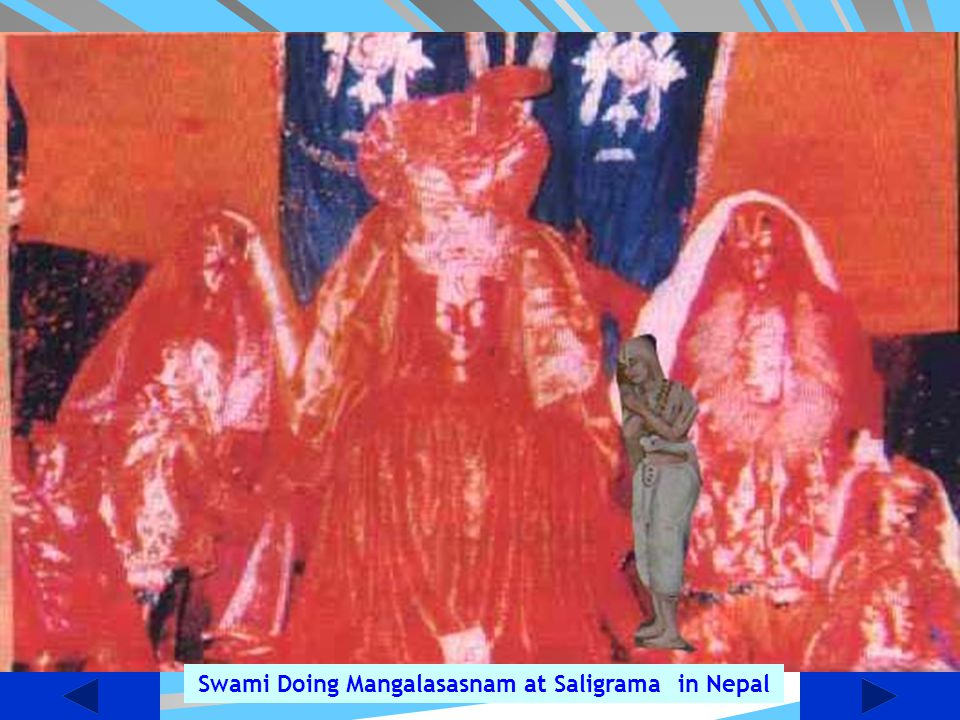 Swami Doing Mangalasasnam at Saligrama in Nepal