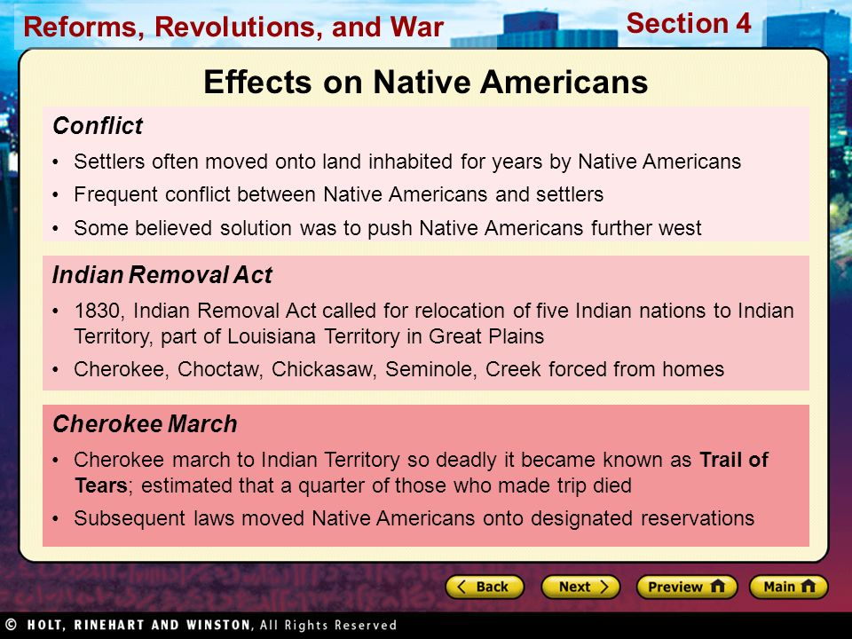 Effects on Native Americans