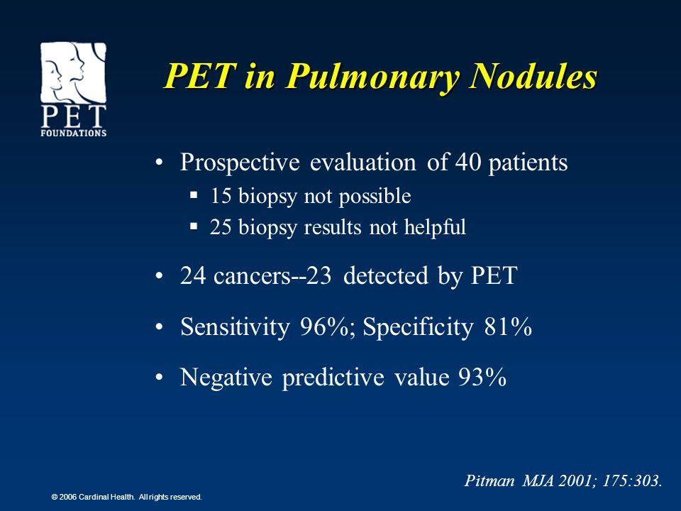 PET in Pulmonary Nodules