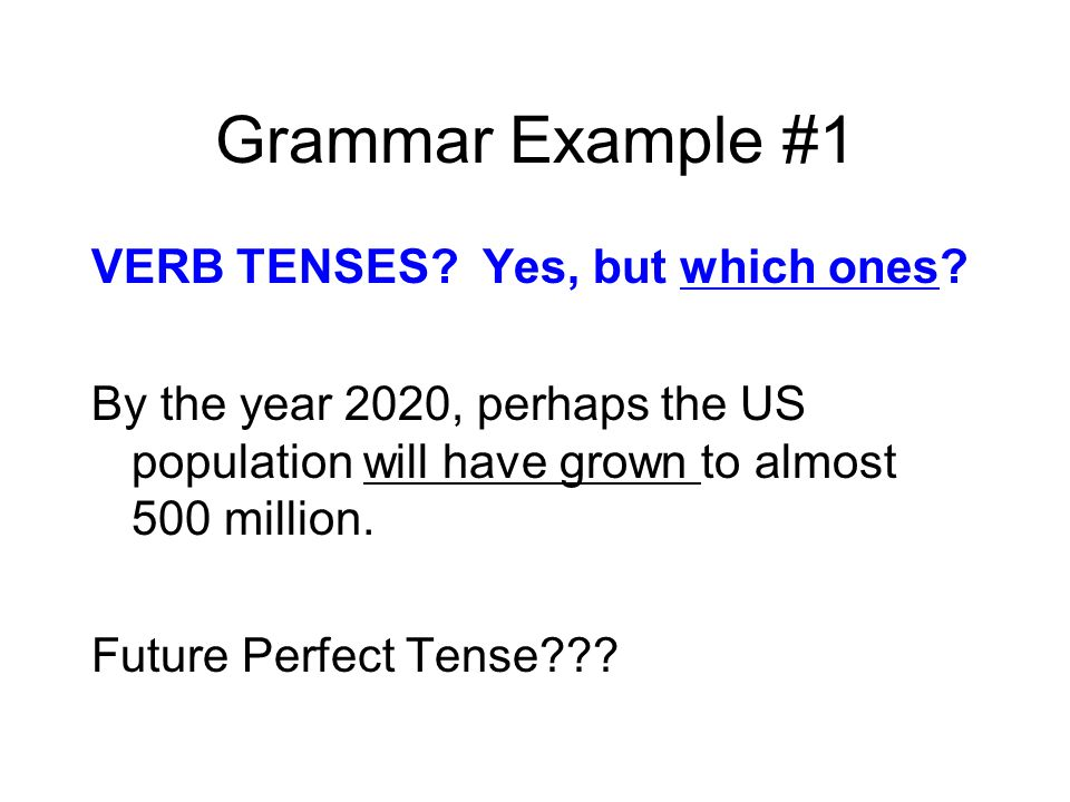 Grammar Example #1
