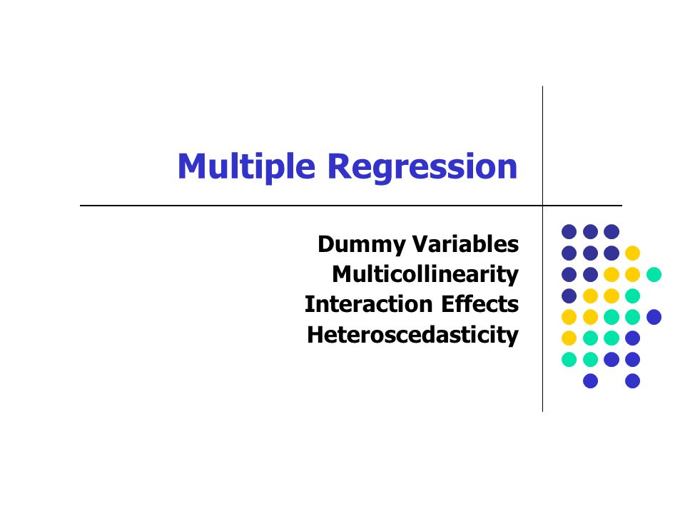 Multiple Regression Dummy Variables Multicollinearity