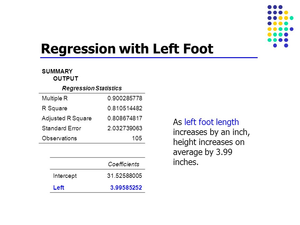 Regression with Left Foot