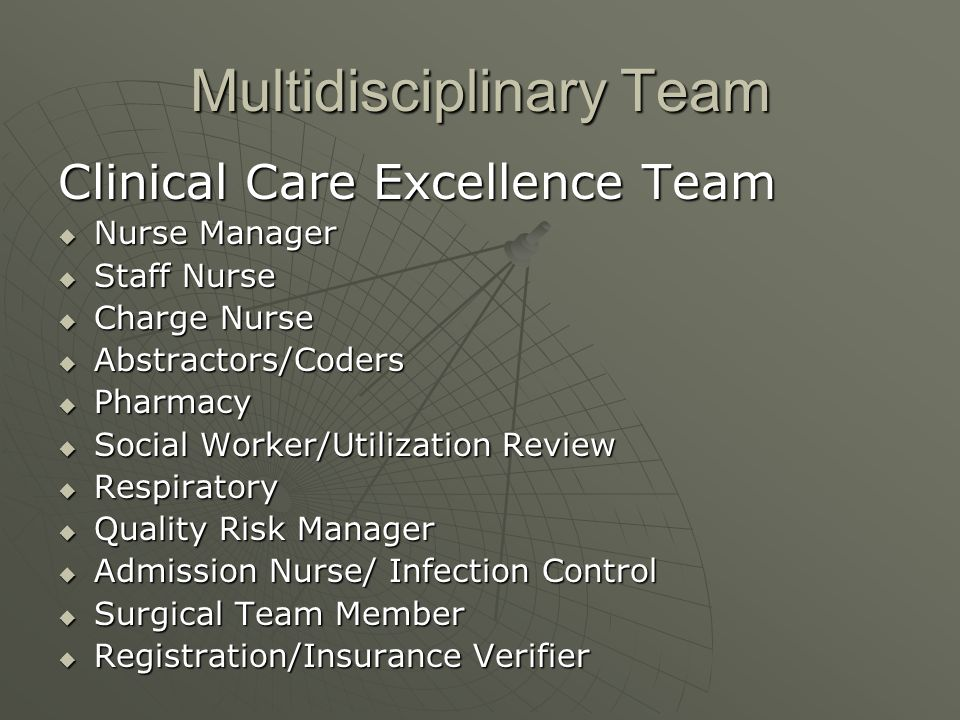 Multidisciplinary Team