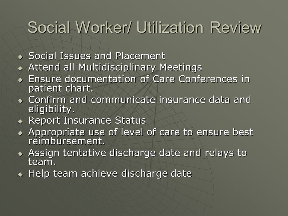 Social Worker/ Utilization Review