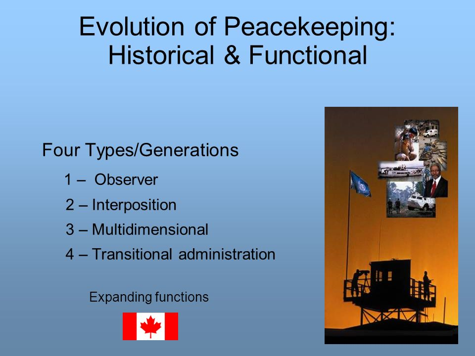 Evolution of Peacekeeping: Historical & Functional