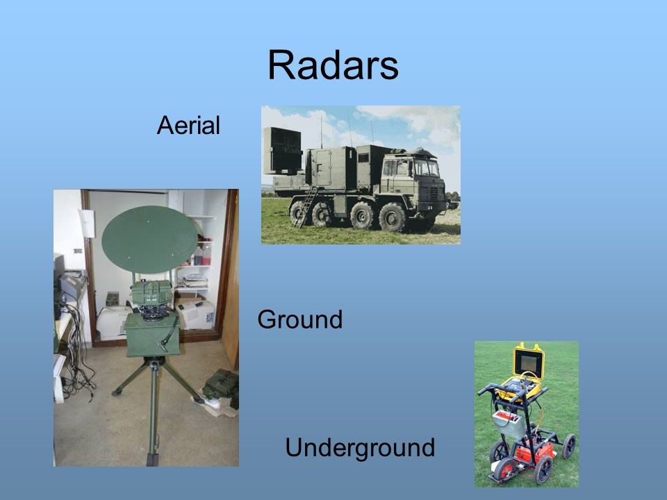 Radars Aerial Ground Underground