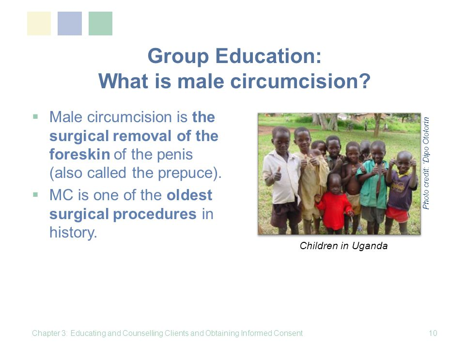 Group Education: What is male circumcision