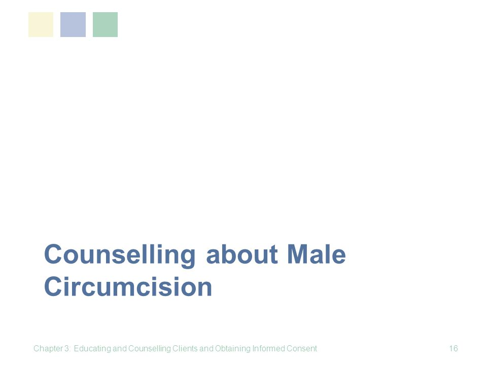 Counselling about Male Circumcision