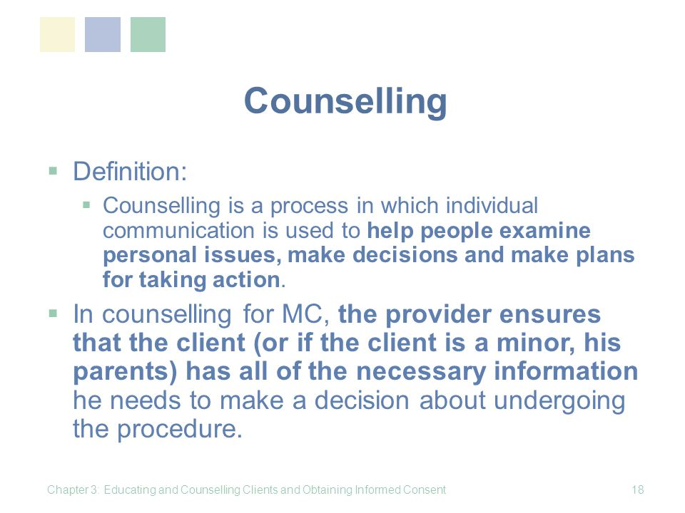 Counselling Definition: