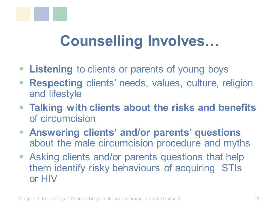 Counselling Involves…