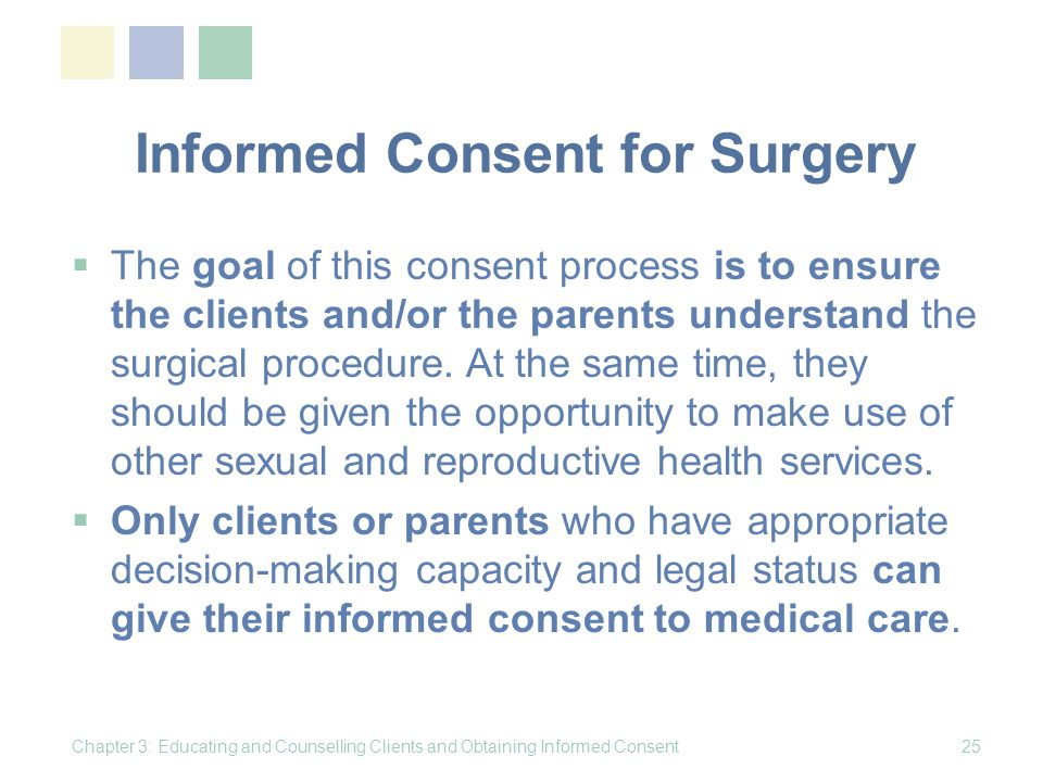 Informed Consent for Surgery