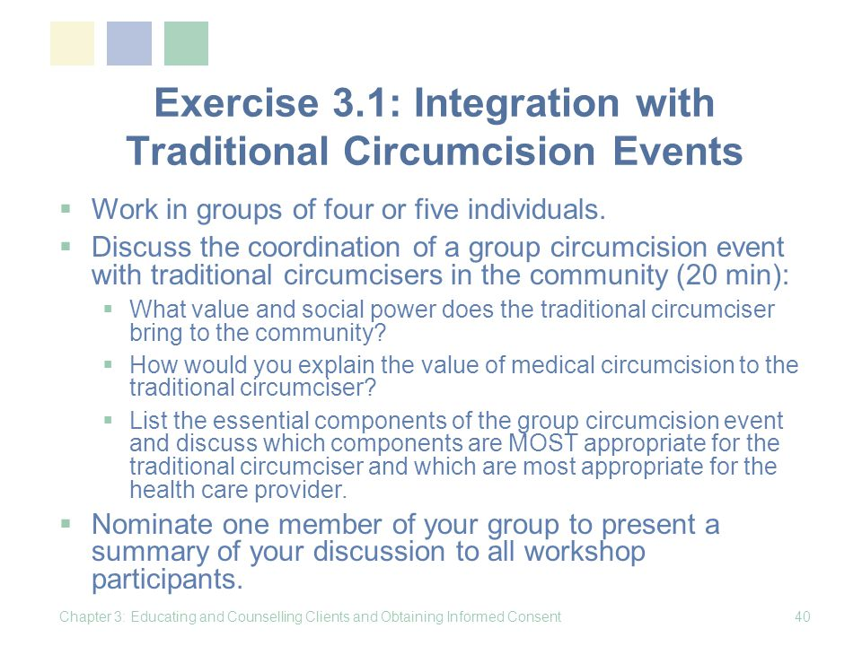 Exercise 3.1: Integration with Traditional Circumcision Events