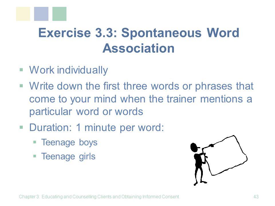 Exercise 3.3: Spontaneous Word Association