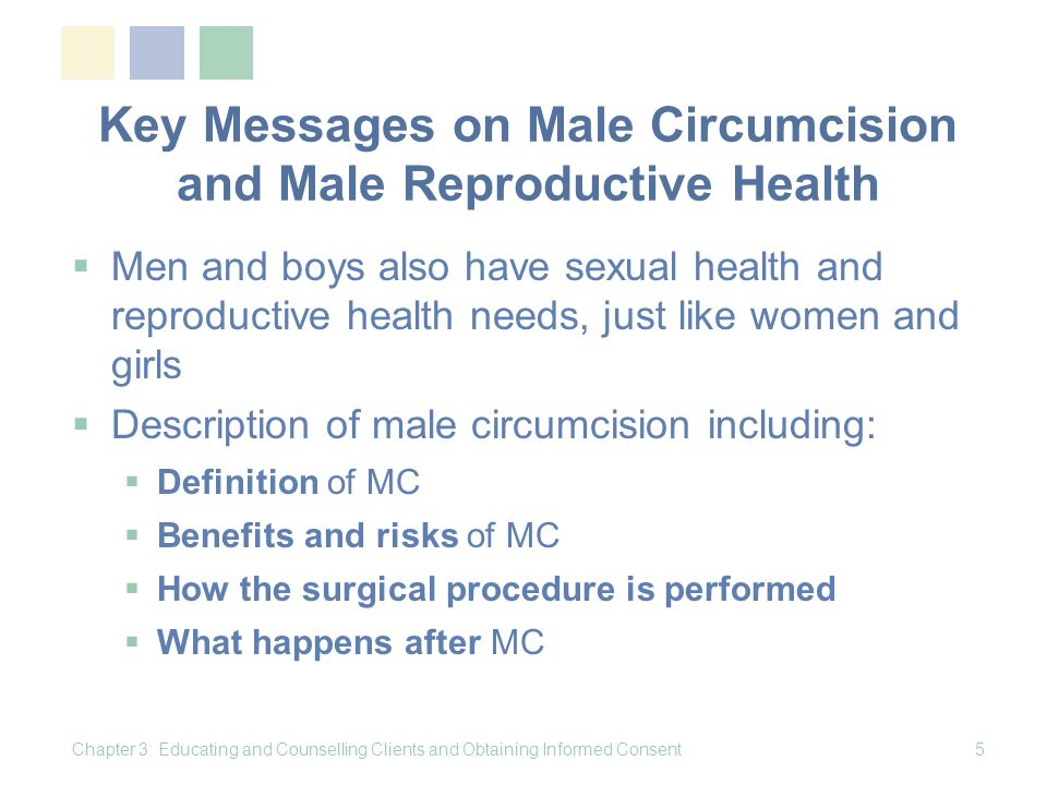 Key Messages on Male Circumcision and Male Reproductive Health