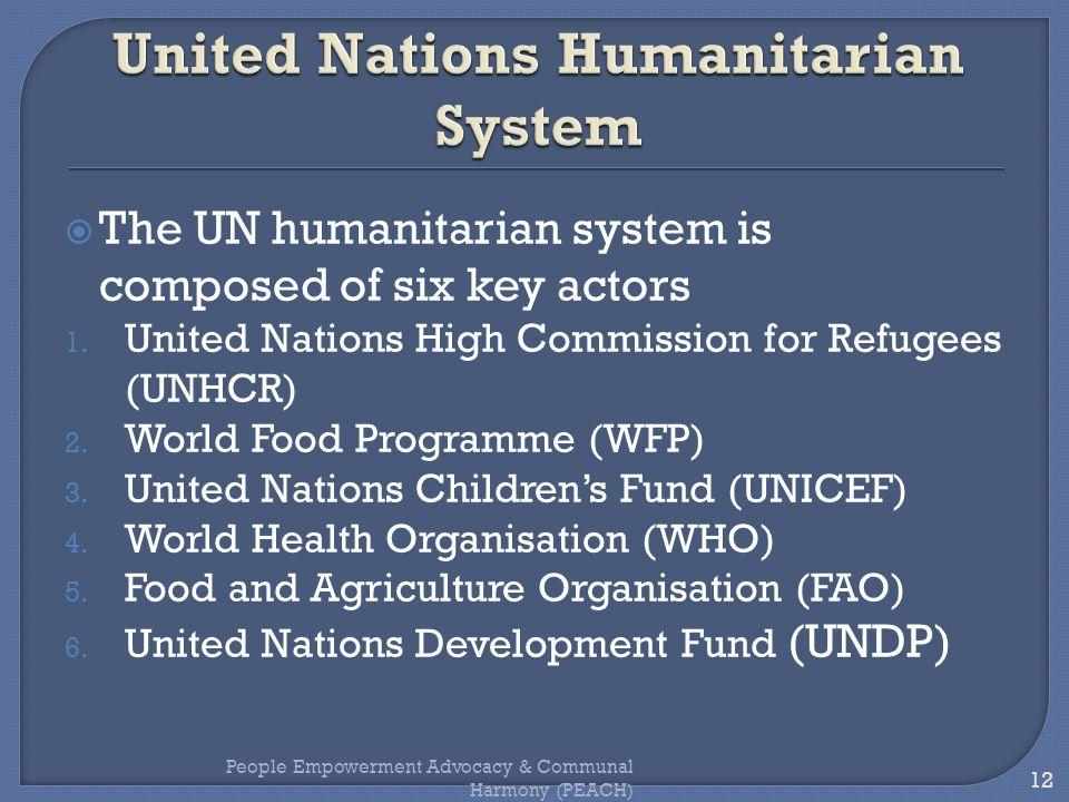 United Nations Humanitarian System