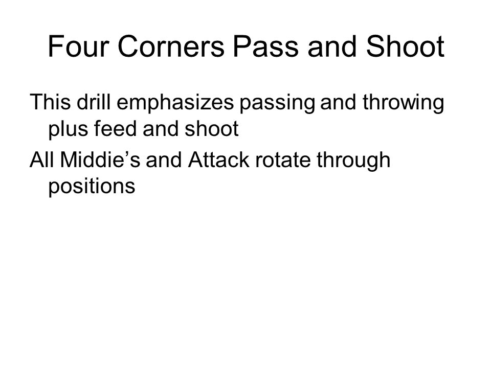 Four Corners Pass and Shoot