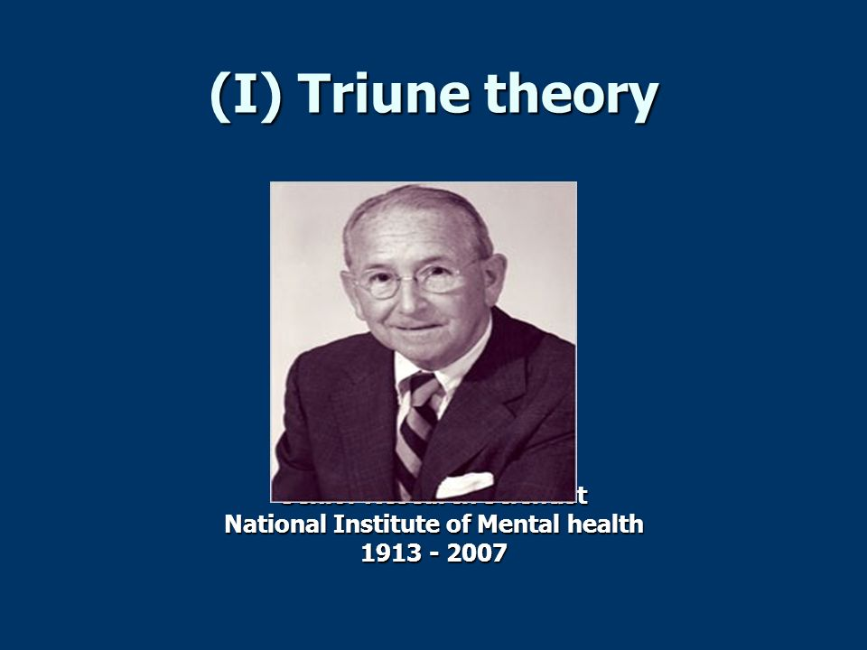 Senior Research Scientist National Institute of Mental health