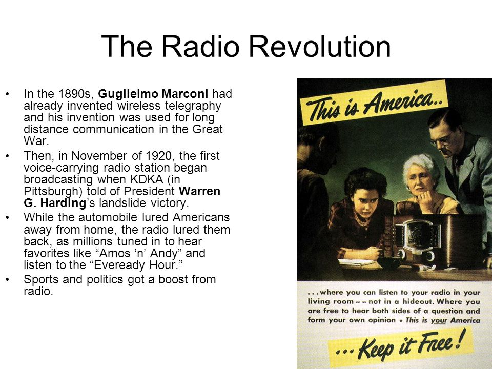 The Radio Revolution