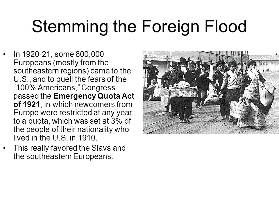 Stemming the Foreign Flood
