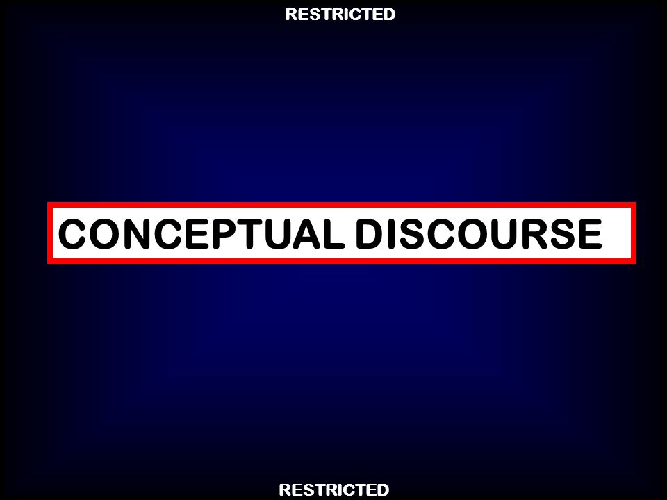 CONCEPTUAL DISCOURSE