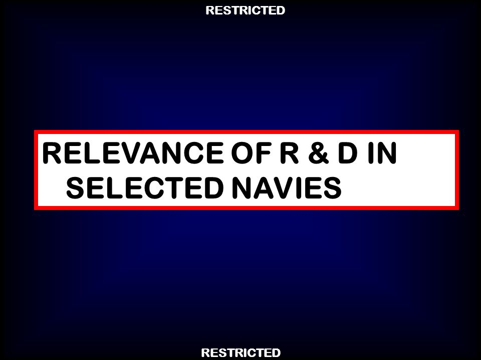 RELEVANCE OF R & D IN SELECTED NAVIES