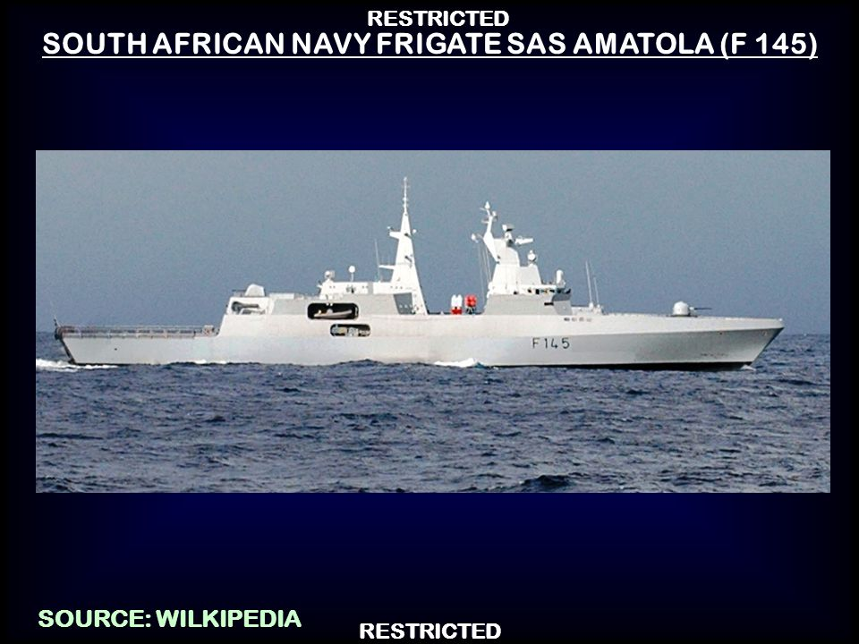 SOUTH AFRICAN NAVY FRIGATE SAS AMATOLA (F 145)