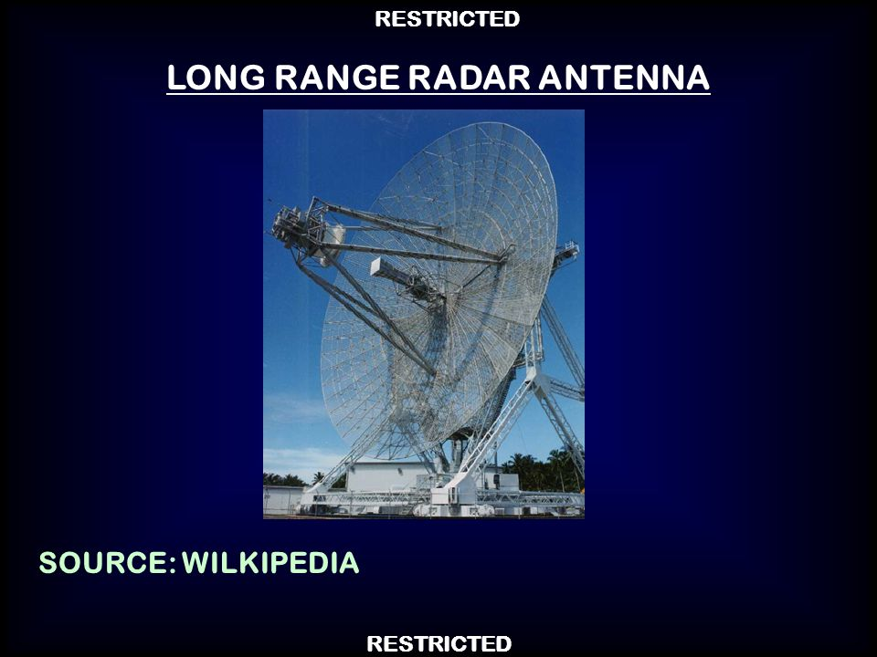 LONG RANGE RADAR ANTENNA