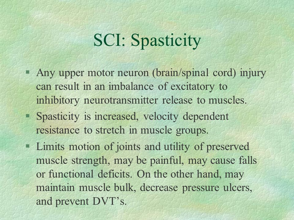 SCI: Spasticity