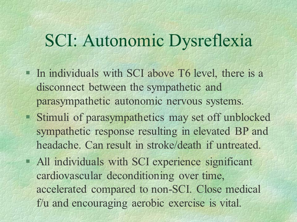 SCI: Autonomic Dysreflexia