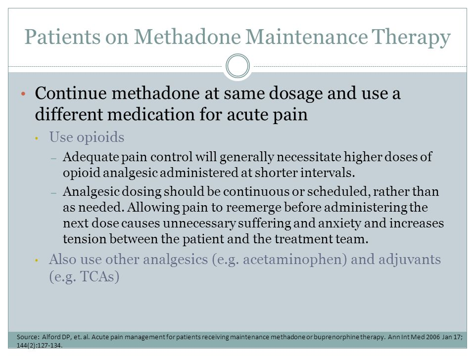 Patients on Methadone Maintenance Therapy