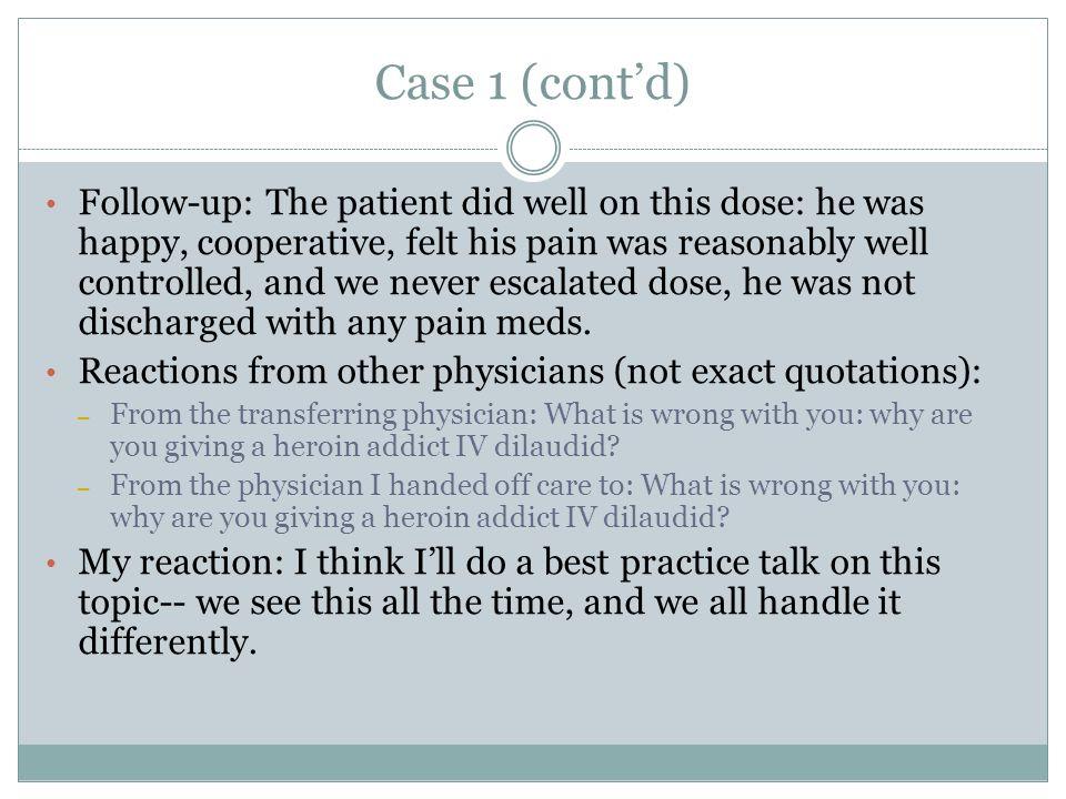 Case 1 (cont'd)