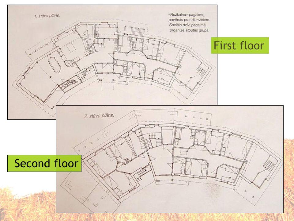 First floor Second floor