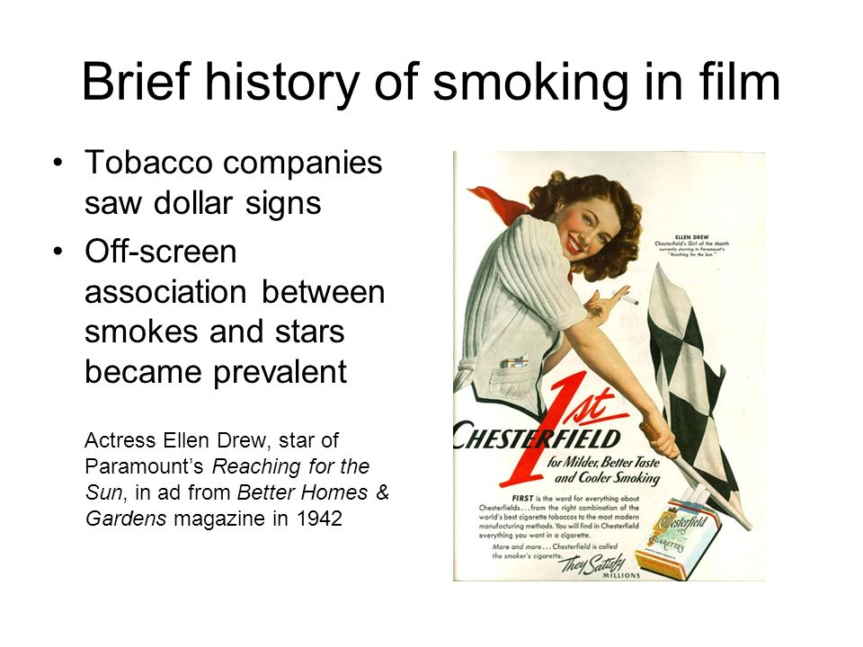 A History of Smoking from Ritual to Cigarette