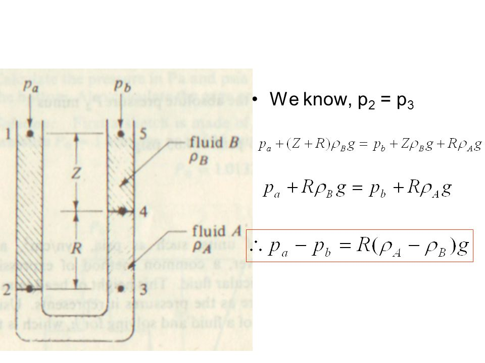 We know, p2 = p3