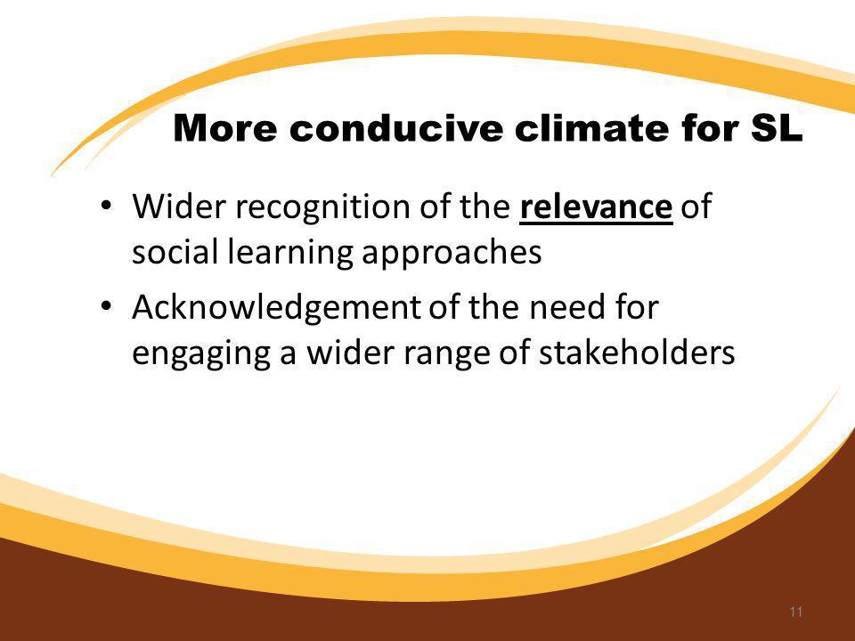 More conducive climate for SL