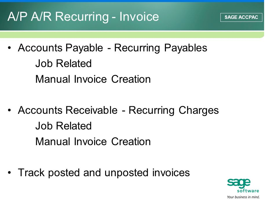 A/P A/R Recurring - Invoice