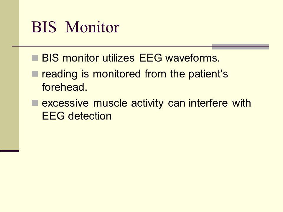 BIS Monitor BIS monitor utilizes EEG waveforms.