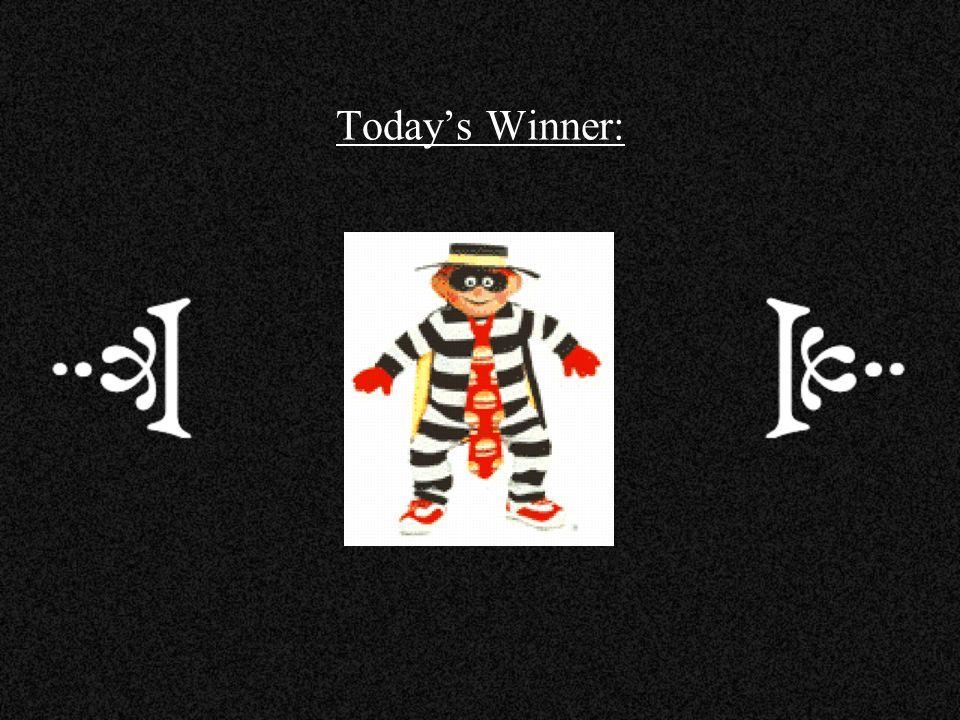 Today's Winner:
