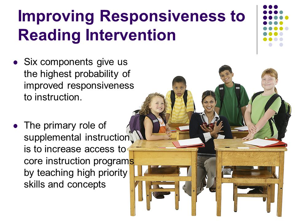 Improving Responsiveness to Reading Intervention