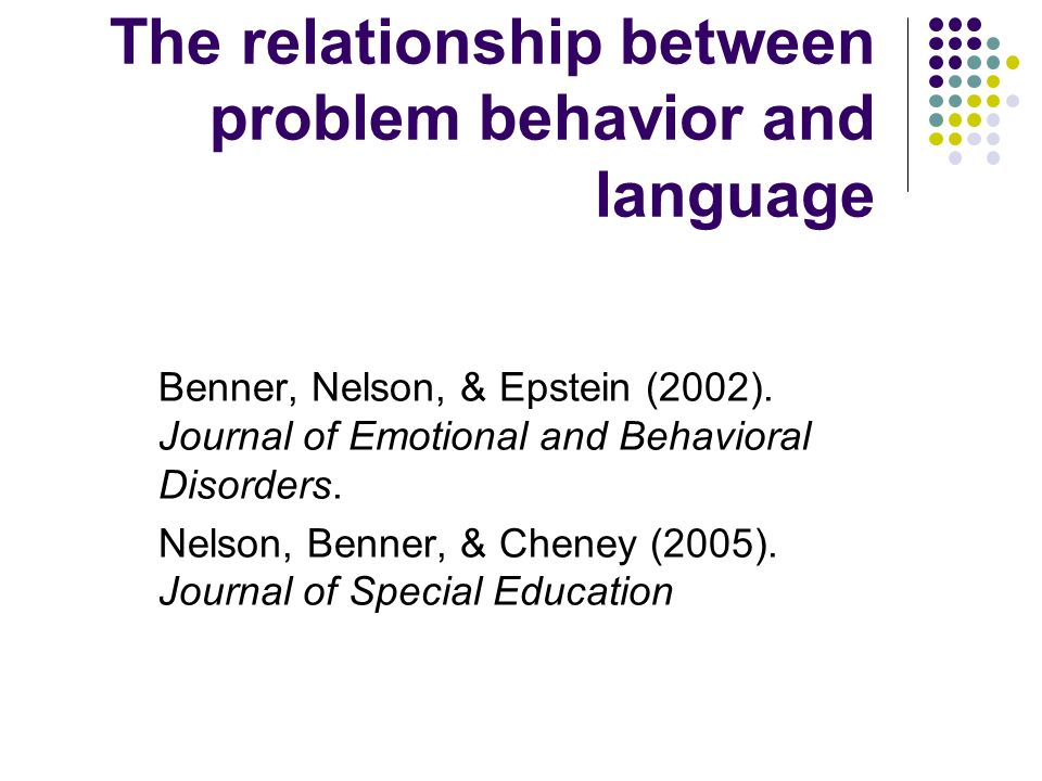 The relationship between problem behavior and language