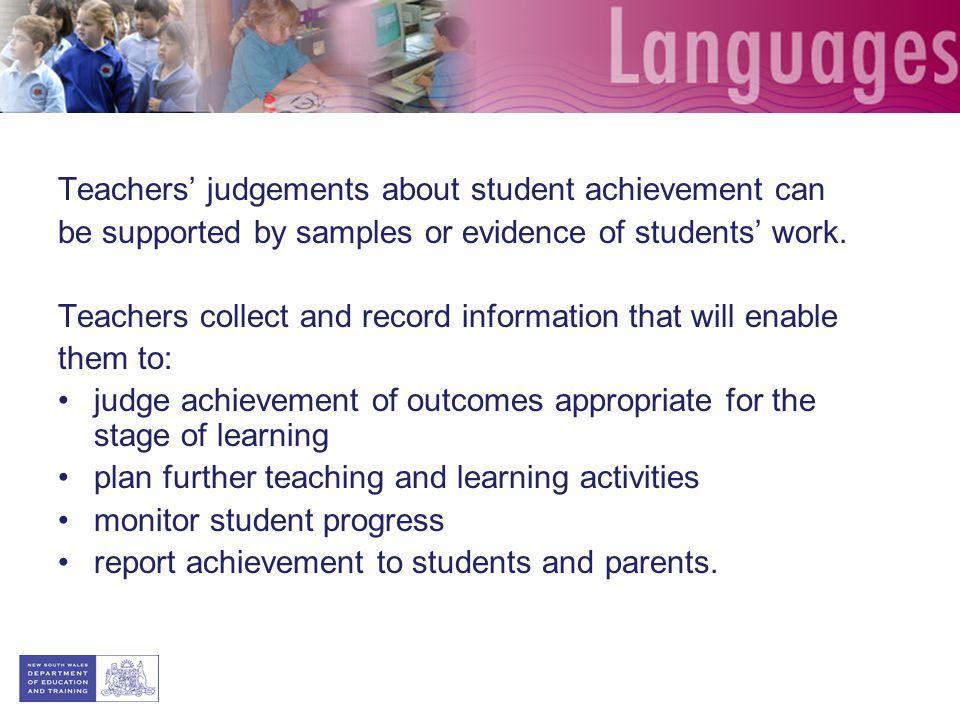 Teachers' judgements about student achievement can